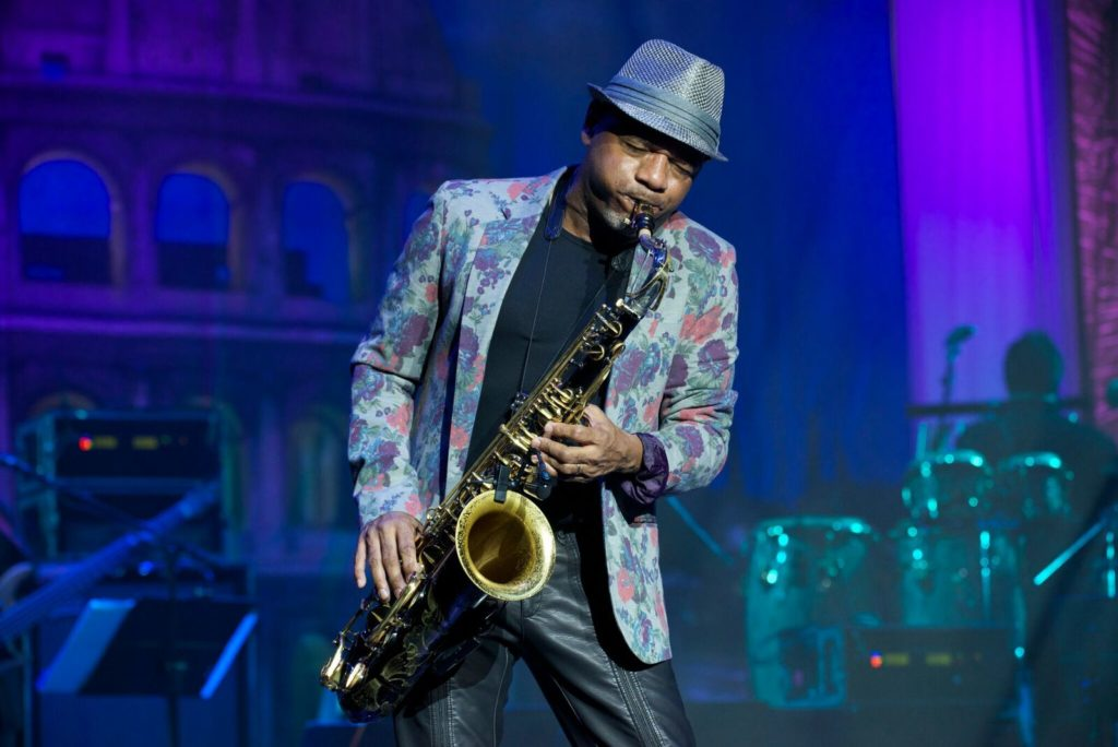 Kirk Whalum playing saxophone