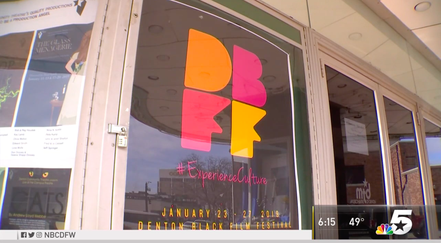 DBFF sign is posted inside the window of a storefront.